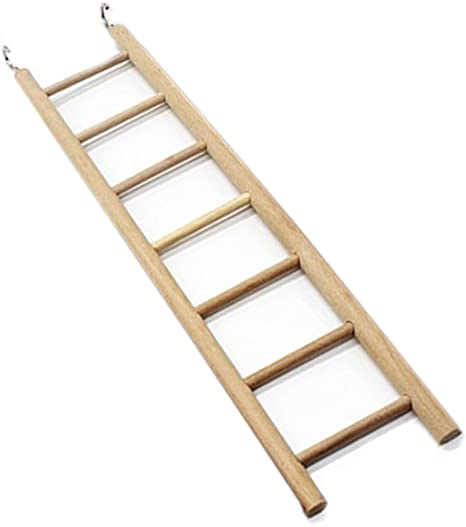 Woopower Escaleras de Madera, Juguetes para pájaros, 7 peldaños, rascador, Perca, Escalada, Juguetes para Mascotas, Suministros para hámsteres, Jaula ...