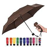 Ke.movan Travel Compact Umbrella Mini Sun Umbrella Ultra Light Parasol - Fits Men & Women (Ver 1.-Brown)