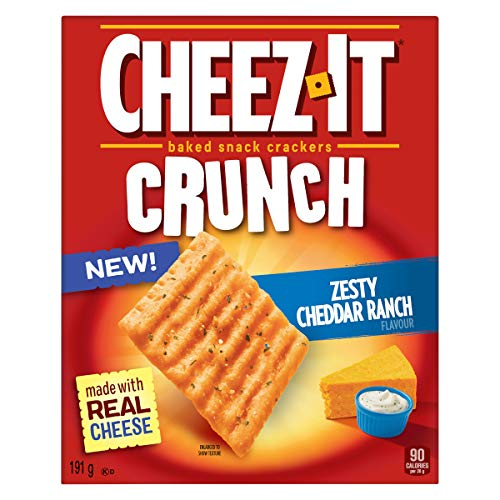 Cheez-It Crunch, Zesty Cheddar Ranch Flavour, Ranch, 191 Grams