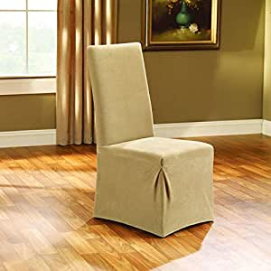 Sure Fit Stretch Pique Dining Room Chair Slipcover Cream Sf38708 Home Kitchen