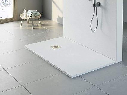 Perfilkrom Plato de ducha rectangular de resina y carga ...