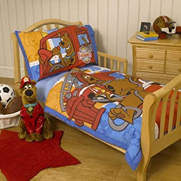 warner bros scooby doo toddler bedding 4pcs scooby to the rescue crib set - Scoobydoo Bedding