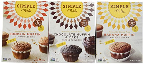Simple Mills Naturally Gluten-Free Almond Flour Muffin Mixes, Variety Pack, 3 Count