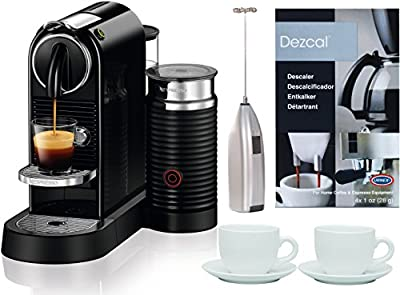 Nespresso Citiz Espresso Machine + Milk Reservoir + 2 Cups + Frother + Descaler