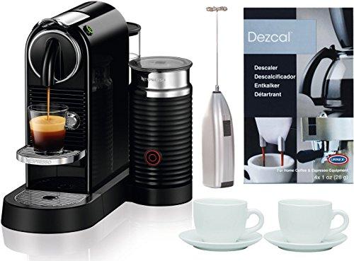Nespresso Citiz Espresso Machine + Milk Reservoir + 2 Cups + Frother + Descaler - Gourmet Coffee ...