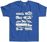 Threadrock Little Boys' Trucks Toddler T-shirt 4T Royal Blue