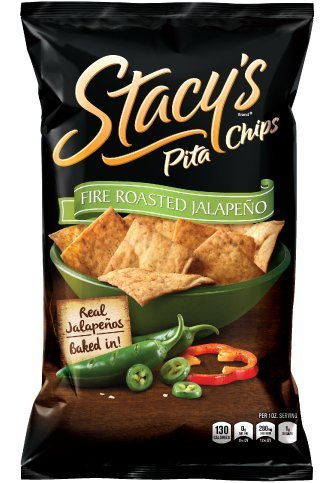 Stacy's Pita Chips Fire Roasted Jalapeno 7.3 oz - 12 Pack