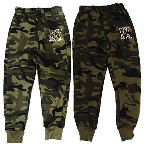 Unbekannt Set van 2 camouflage joggingbroeken voor jongens, in de maten 98-188
