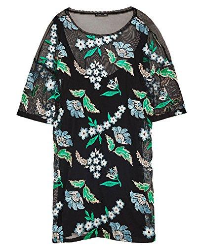 Zara Donna Vestito fiore ricamato 3633/204