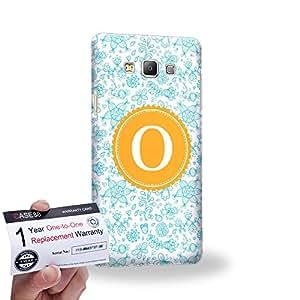 Case88 [Samsung Galaxy A7] 3D impresa Carcasa/Funda dura para & Tarjeta de garantía - Art Typography Fashion Alphabet O Style