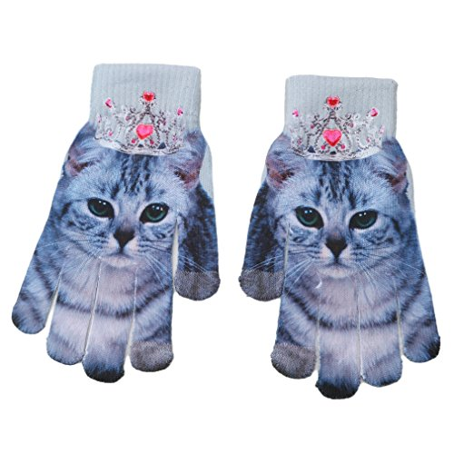 f60cedb7f9b Dolland Winter Warm 3D Print Knitted Touch Gloves Phone Texting Touch  Screen Gloves Mittens