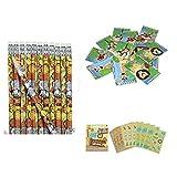 Zoo Jungle Animal Party Favors - 24 Pencils 24 Mini Notebooks & Mini Sticker Book (111 Stickers) Classroom Teacher Motivation Rewards Tiger Lion Elephant Giraffe