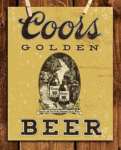 Coors Golden Beer-Vintage Sign Poster Print-