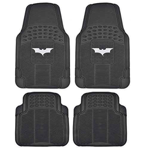 Dark Night Batman Rubber Floor Mats Car 4 PC Front Heavy Duty All Weather Prot. -