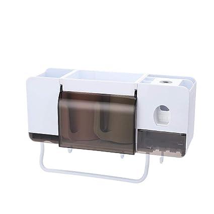 Winnerruby Multi-Funcional de Baño Estante de Almacenamiento de Rack Soporte Automático de Pasta de