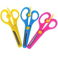6pcs Artwork Safety Anti-Pinch Kids Scissors Cutting Tools Paper Craft Supplies