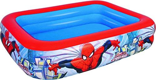 Color Baby – Piscina hinchable rectangular de Spiderman