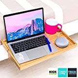 BedShelfie Plus The Original Bedside Shelf - 9 Colors - 2 Sizes - AS SEEN ON Business Insider (Plus Size, Natural Bamboo)