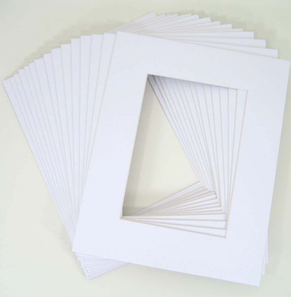 10 of 18x24 White Pre-cut Acid-free whitecore mat, fits 13x19 + back 512RP5BDvCLSL1020_