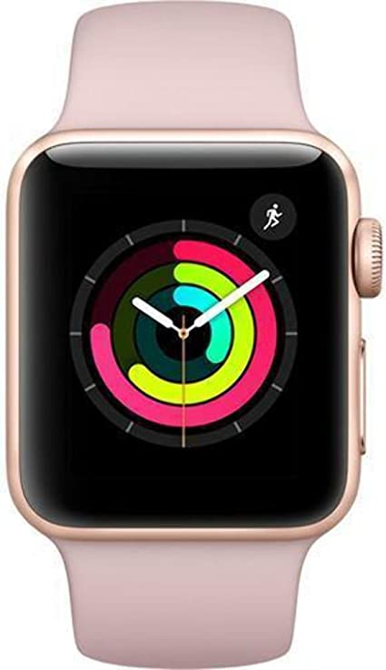 Apple Watch Series 3 42mm Smartwatch (GPS Only, Silver Aluminum Case, White Sport Band) (Renewed)