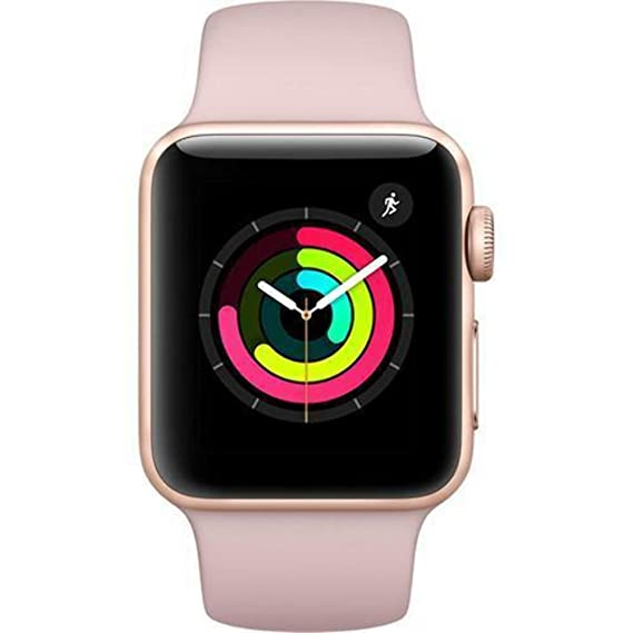 the latest 86c17 0202f Apple Watch Series 3 - GPS - Gold Aluminum Case with Pink Sand Sport Band -  38mm - MQKW2LL/A (Renewed)