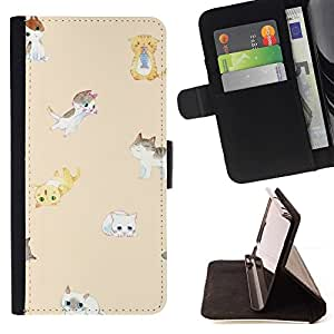 Momo Phone Case / Flip Funda de Cuero Case Cover - Peach Cat Enfants Jaune Pet - Samsung Galaxy S3 III I9300