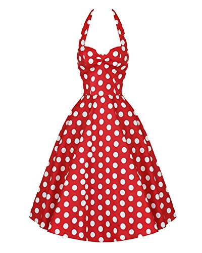 Luouse Classy Vintage Audrey Hepburn Style 1950's Rockabilly Swing Evening Dress