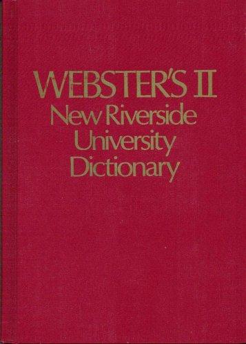 Dic Webster's II New Riverside University Dictionary (Riverside Outlets)