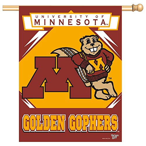 "NCAA Minnesota Golden Gophers Banner, 27""x37"", Team Color"