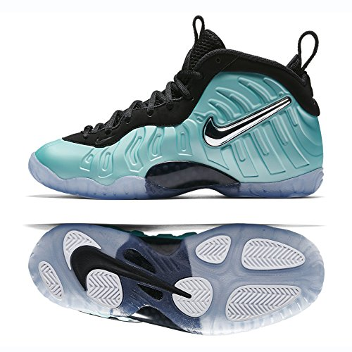 NIKE Little Posite Pro (GS) 644792-303 Island Green/Platinum Kids Shoes