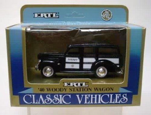 Classic Vehicles ERTL Die-Cast Metal '40 Woody Station Wagon ()