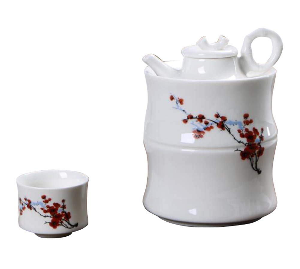 DRAGON SONIC Warm Wine Pot Set, Ceramic Sake Set, Wine Separator, E03