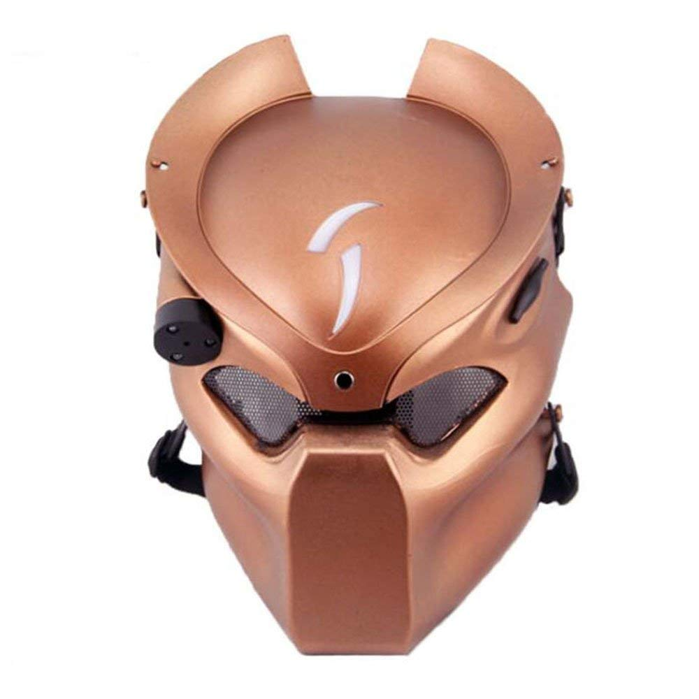 ATAIRSOFT Tactical Protective Airsoft Metal mesh Alien Full Face Mask with Lamp Red Copper by ATAIRSOFT