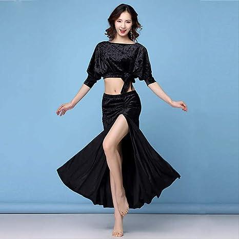 KLMWDDPWY Danza del Vientre Mujer Winter Spring Women Belly Dance ...