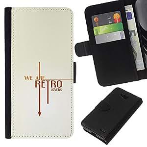 All Phone Most Case / Oferta Especial Cáscara Funda de cuero Monedero Cubierta de proteccion Caso / Wallet Case for LG OPTIMUS L90 // Retro Vintage Text Cool Clean White