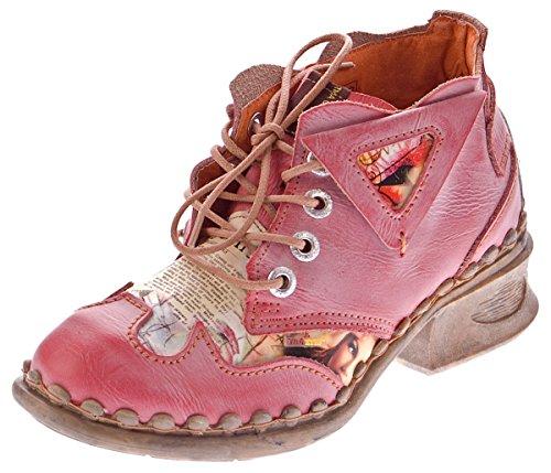 Halb Rot Schwarz Knöchel Leder Schuhe 5155 Schuhe Blockabsatz Damen Boots TMA Weiß Grau Comfort Blau qT6SnY