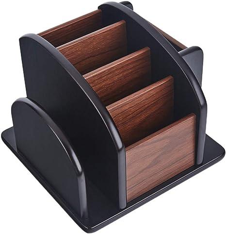 Toyvian - Organizador de escritorio de madera para escritorio ...
