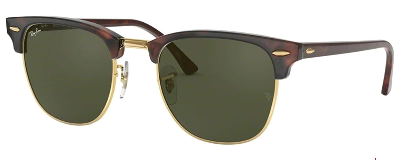 0ce9efdf94 Amazon.com  Ray-Ban RB3016 W0366 Clubmaster Sunglasses Havana   Crystal  Green Lens 49mm  Shoes
