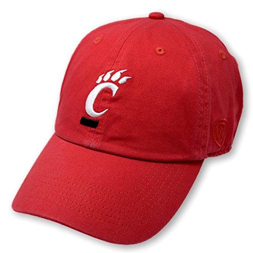 Baseball Bearcats Cincinnati - Top of the World NCAA Cincinnati Bearcats Men's Adjustable Relaxed Fit Team Icon Hat, Red