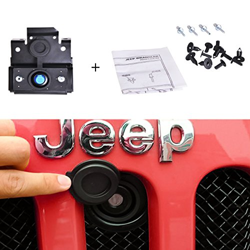 omotor Hood Lock Anti-Theft Kit Assembly for 2007-2018 Jeep Wrangler JK & Unlimited 2 Door 4 Door Anti-Theft Alarm System 82213051-AB