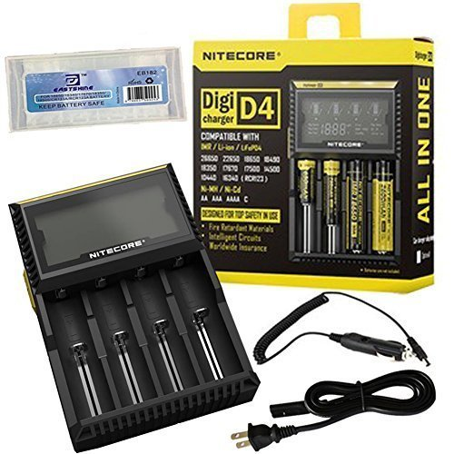 NiteCore-D4 Charger Integrated LCD Panel Display for Li-Ion Ni-MH Ni-Cd Batteries