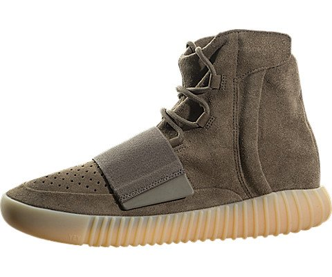 adidas Mens Yeezy Boost 750 Kanye WEST Chocolate Brown/Gum Suede Size 10