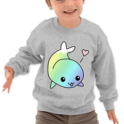 Puppylol Cute Rainbow Whale Kids Classic Crew-Neck Pullover Hoodie Ash 2 Toddler - 14 Light Orleans Chandelier