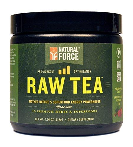 Fuerza natural pre-entrenamiento - té crudo - certificado Paleo, no-GMO, ingredientes orgánicos (Original) - peso neto 4,16 oz (118 g)