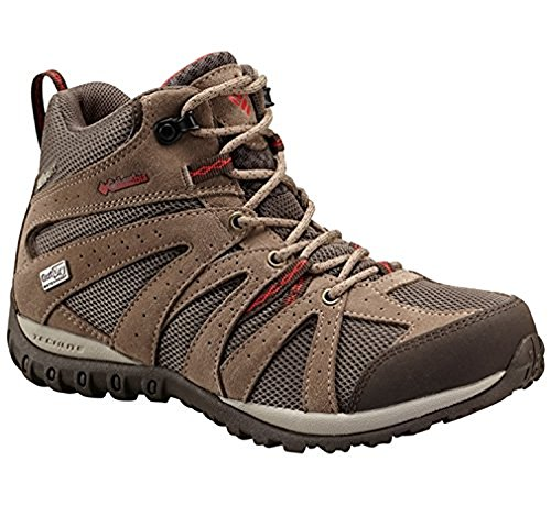 Columbia Grand Canyon Mid Outdry - Zapatos de Low Rise Senderismo Mujer Multicolor - Multicolor (Mud/Poppy Red)