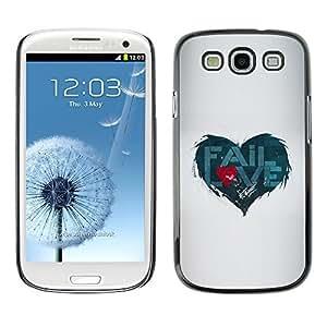 GagaDesign Phone Accessories: Hard Case Cover for Samsung Galaxy S4 - Fail Love