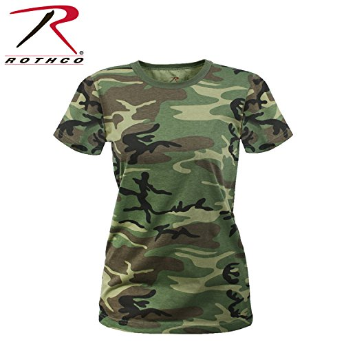 Rothco Women's Longer T-Shirt, Woodland Camo, - The Woodlands Of Women