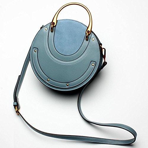 Aoligei Fashion cuir rétro métallique sac à main petite ronde sac rivet épaule unique messenger sac sac petite marée xxskxYwQR