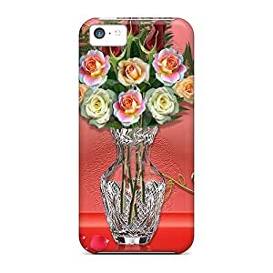 Special Design Back Roses With Love Phone Case Cover For Iphone 5c