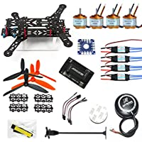 QWinOut 300m Mini RC Quadcopter Drone PNF Kit 6M GPS APM 2.8 FC DIY 4-Axle Unassembly (NO TX RX Battery)